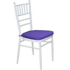 White Tiffany Chair with Purple Cushion