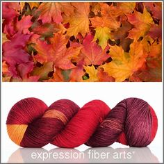 SUGAR MAPLE 'CASHSILK' SOCK YARN by expression fiber arts