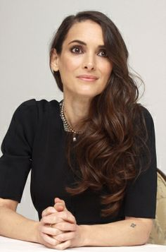 Winona Ryder 'Homefront' press conference, nov 18 2013.  Love that she has long hair.
