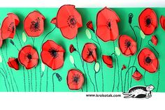 children activities, more than 2000 coloring pages Remembrance Day Activities, Remembrance Day Poppy, Poppy Craft For Kids, Art For Kids, Flower Crafts, Flower Art, Paper Plate Poppy Craft, Memorial Day Poppies, Summer Camp Art
