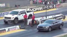 Драг Рейсинг Форд Мустанг ГТ и Форд Раптор Drag Race Ford Mustang GT vs ...