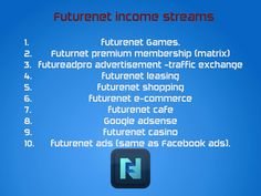 How many Companies are out there to Compete? You Should be Able to see; Why FutureNet is Something Special! Register Here