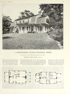 House and Garden& book of houses : containing .