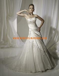 Sophia Tolli robe bustier 2012 A-line ivoire organza