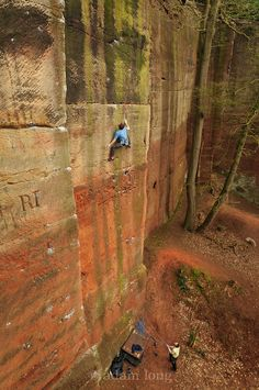 Ben Bransby on Gathering Sun, E7 (6B) Nesscliffe.  Photo: Adam Long