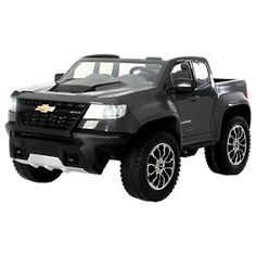 Rollplay Chevy Colorado Battery-Operated Ride-On Truck for Kids - Gray Chevy Stepside, Chevy Silverado, Lifted Chevy, Chevy Pickups, Vintage Chevy Trucks, Toy Cars For Kids, Chevrolet Colorado, Power Wheels, Kids Ride On