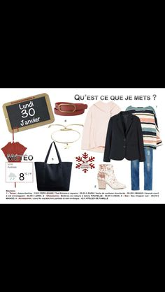 Nouvelle semaine et nouvelles tenues. Un #look #casual #chic pour ce #lundi et toutes les explications sur http://www.2minutesjemhabille.fr/fr/lundi-30-janvier-2017/