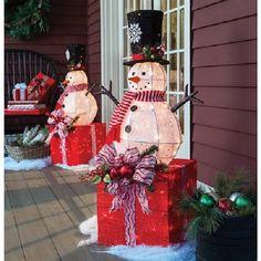 "LIVING HOME 42"" PRE-LIT SNOWMAN OUTDOOR CHRISTMAS DECORATION  $88"