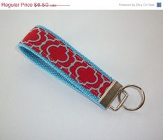 Back to School SALE  Key FOB / KeyChain / Wristlet   by Laa766, $6.00