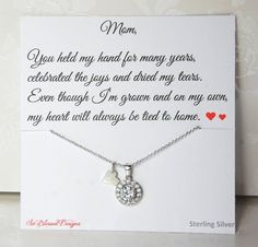 Mother of the Bride Gift Mother of the Groom Gift Wedding Gift Mother of Groom Necklace To Mom from  sc 1 st  Pinterest & 11 Top wedding gifts for mom images | Wedding ideas Gifts Dream ...