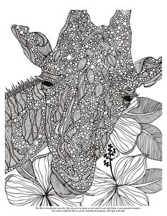 Happy Coloring Monday! here your free coloring page http://valentinadesign.com/images/printables/giraffe_0930_VH.pdf Enjoy it!