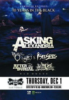 Asking Alexandria at Brooklyn Bowl Las Vegas - http://fullofevents.com/lasvegas/event/asking-alexandria-at-brooklyn-bowl-las-vegas/