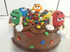 A colourful M&M birthday cake by Belle's Patisserie