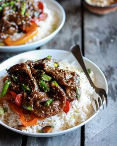 30 minute Korean Beef & Toasted Sesame rice Full recipe