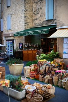 Provence, France has some great markets. And you always need to pick up one of these wicker baskets for your treats!