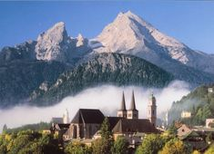 The Bavarian Alps When i think of dream vacation/happy place, its gotta be something like this. A country side castle in Germany, perhaps!? Yes please!!