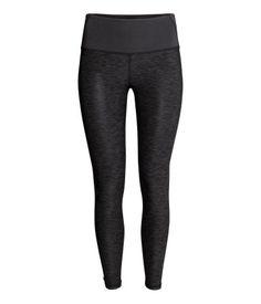 緊身瑜伽褲 | 雜深灰色 | 女裝 | H&M TW