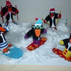 Winter Crafts For Kids Winter Art Projects, Winter Crafts For Kids, Winter Kids, Diy For Kids, Kindergarten Art Lessons, Art Lessons Elementary, Jr Art, Winter Theme, Art Plastique