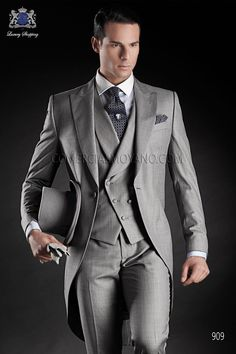 Custom Made Morning Suits Groom Wedding Suits Handsome Groomsman Business Suits Prom Suits (Jacket+Pants+Vest+Tie) Groom Morning Suits, Wedding Morning Suits, Wedding Suits, Wedding Groom, Wedding Tuxedos, Wedding Jacket, Wedding Dinner, Wedding 2015, Wedding Attire