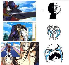 Code Geassㅡ that one anime that made me feel pain, grief and immeasurable anguish all throughout the ride. First watched it when I was 10 years old (no wonder i grew up like this). Anime Couples Manga, Cute Anime Couples, All Anime, Anime Stuff, Anime Girls, Manga Anime, Anime Art, Code Geass, Mysterious Girl Names