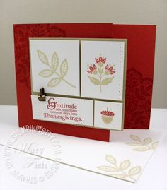 Stampin up day of gratitude thanksgiving card