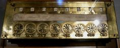 Early computer. 8-wheeled Pascaline counting machine. Invented by Blaise Pascal. Looked like an epic wee machine for back in the day.. :)