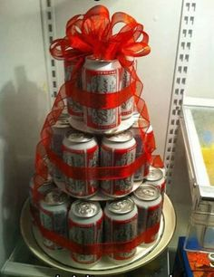 Budweiser Beer Cake - 29 beers for 29th birthday!