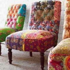 3 colorful chairs via Hip & Humble Home