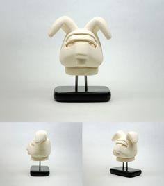 "Saatchi Online Artist: Andrew Barton; Ceramic, 2012, Sculpture ""Astronaut Rabbit-Something to Chew on"""