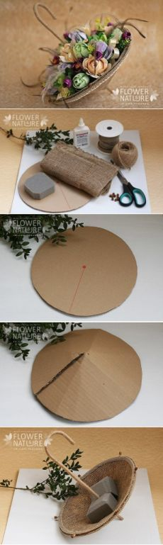 special floral arrangement, made easy- besonderes Blumengesteck, einfach gemacht special floral arrangement, made easy - Flower Crafts, Diy Flowers, Paper Flowers, Craft Projects, Projects To Try, Diy Y Manualidades, Diy And Crafts, Paper Crafts, Fleurs Diy