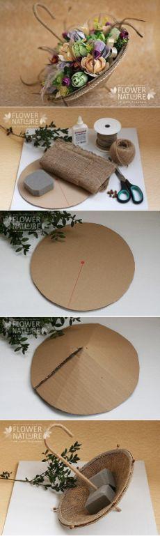besonderes Blumengesteck, einfach gemacht
