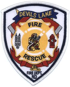 Devils Lake Fire Department Patch  www.setcomcorp.com/fire.html
