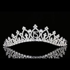 Quinceanera 15 Birthday Party Pageant Rhinestone Crystal Crown Tiara 8942 #Tiara