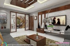 Last Trending Get all images house interior living room Viral living view Hall Interior, Luxury Homes Interior, Living Room Interior, Interior Design Living Room, Living Room Designs, Living Rooms, Hall Room Design, Living Room Partition Design, Room Partition Designs