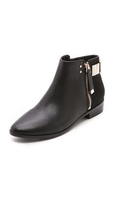 ba51ae5db9a7 Two Tone Zip Booties. Big Black BootsWalking ...