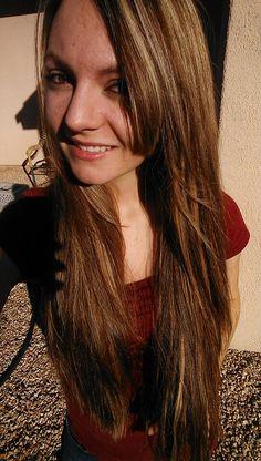 Long Blonde Brunette Brond Hair Highlights Layers Bangs