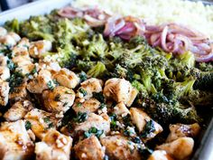 Sheet Pan Balsamic Basil Chicken Cauliflower Rice Bowl - The Whole Cook