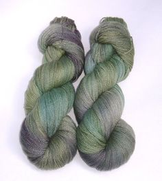 Lace yarn Tidepool hand dyed superwash merino by swiftfiberstudio