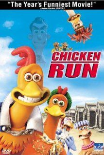 Yep, Chicken Run.  Oldest Gson talked me into this one many years ago now - and yes it is VHS.  ******Egads, did I just tell everyone I still have a working VCR in the year 2012!!!!!*********Oh noooo. and just as soon as I say I don't particularly like Mel Gibson anymore, just saw that he is the voice of rooster Rocky in this movie!!!