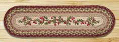 27in. x 8.25in. Cranberries Oval Braided Stair Tread Rug