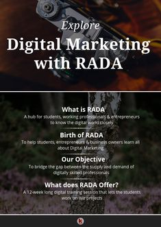 RADA offers you an opportunity to explore the digital marketing domain closely. Learn all about digital marketing here. Digital Marketing Strategy, Content Marketing Tools, Digital Marketing Trends, Inbound Marketing, Marketing Plan, Online Marketing, Social Media Marketing, Small Business Trends, Small Business Marketing