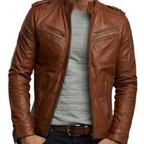 Looking good in a brown leather jacket brown leather jacket handmade men brown biker leather jacket men ymsaxue Men's Leather Jacket, Biker Leather, Leather Men, Leather Jackets, Custom Leather, Lambskin Leather, Black Leather, Real Leather, Cowhide Leather