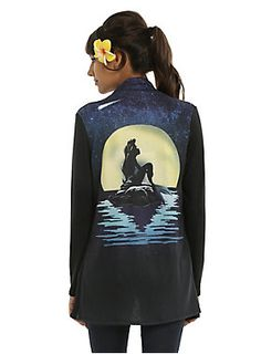 Love has no boundaries // Disney The Little Mermaid Ariel Moon Silhouette Girls Cardigan