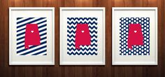 Homewood Alabama State Set of Three Giclée Prints by PaintedPost, $37.00 - Samford - What a great and memorable gift for graduation, sorority, hostess, and best friend gifts! Also perfect for dorm decor! :)