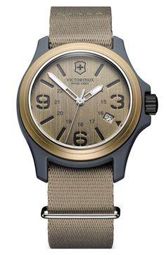 Victorinox Swiss Army® 'Original' 40mm Nylon Strap Watch | Nordstrom