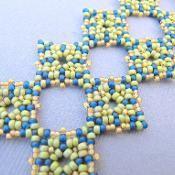 Perfect Geometry Beaded Cuff Bracelet - via @Craftsy