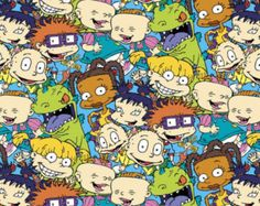 Cartoon Fabric - Nickelodeon Rugrats Packed Characters by Springs Creative cotton fabric wide Nickelodeon Cartoons, Rugrats, Cool Wallpaper, Wallpaper Backgrounds, Cartoon Wallpaper Iphone, Cartoon Profile Pictures, Grunge, Cotton Quilting Fabric, Classic Cartoons