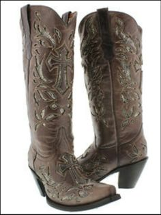 Boots with crosses:)