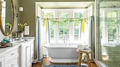 The 12 Most Relaxing Bathtubs | We dare you to pull yourself out of one of these decadent soaking tubs. For many buyers and potential homeowners, a giant soaking tub is a mater bathroom must-have. Read on for 12 ways to create a retreat fit for your bubble-bath dreams—plus, our picks for the best tubs to install in your next renovation.