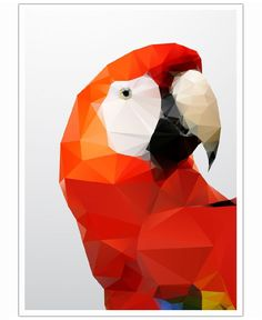 Geo Parrot Red of Three Of The Possessed now on JUNIQE!